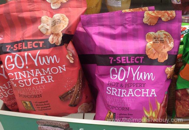 7-Select Go! Yum Cinnamon & Sugar and Sriracha Popcorn