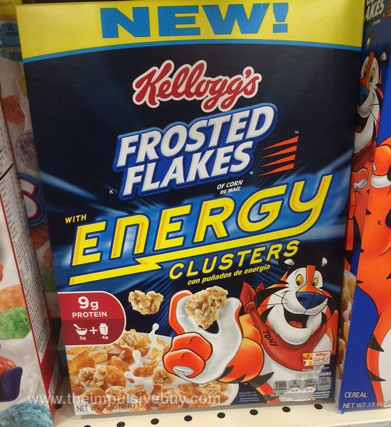 Kellogg's Frosted Flakes with Energy Clusters Cereal