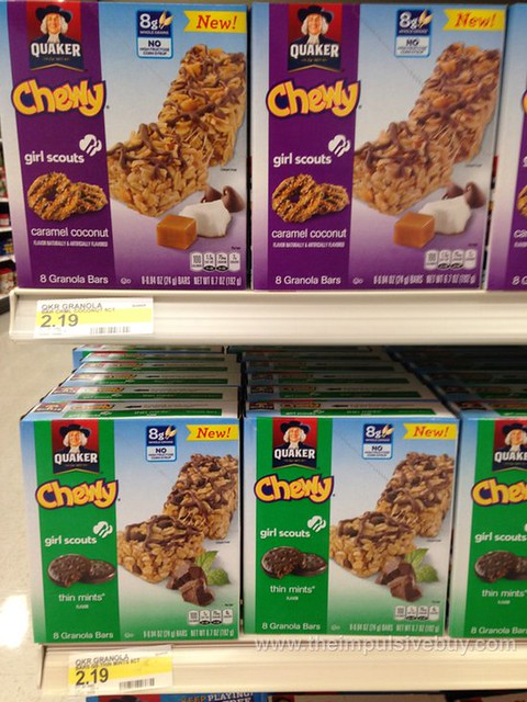 Quaker Chewy Girl Scouts Thin Mints and Caramel Coconut Granola Bars