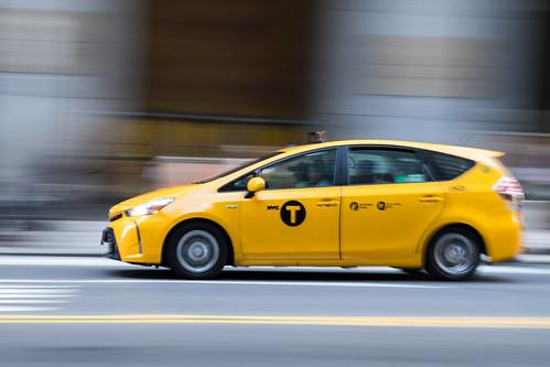 Rushing NYC taxi