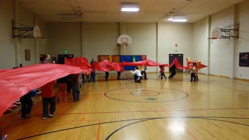 Kindergarten Dragon Dance in PE...