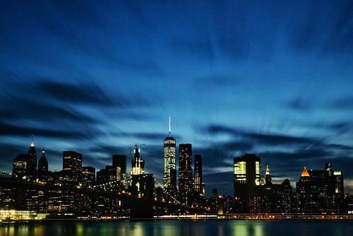 NYC skyline from Brooklyn Bridge Park