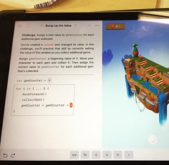 Having a play with the new #swiftplayground from @apple #steam #education #