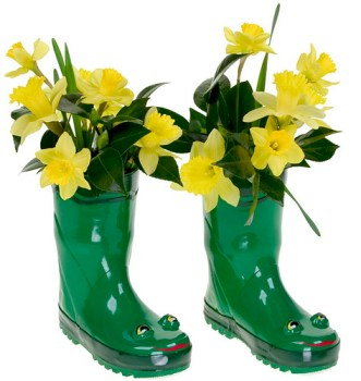 Daffodils in Rain Boots -  - Leanne and David Kesler, Floral Design Institute, Inc., in Portland, Ore.
