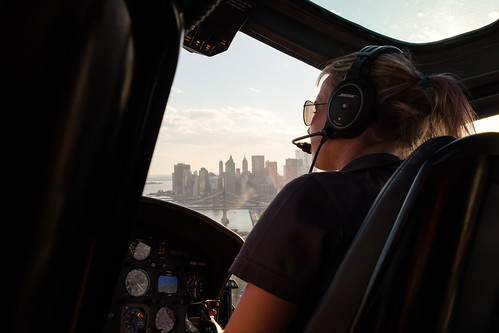 Our helicopter pilot Christie