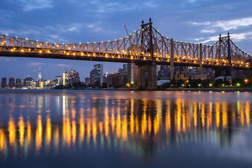 Queensboro Bridge at blue hour
