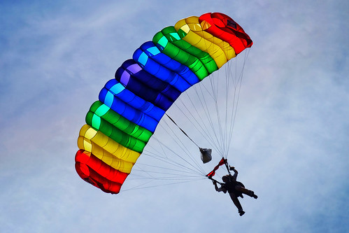 Alicia during her skydive