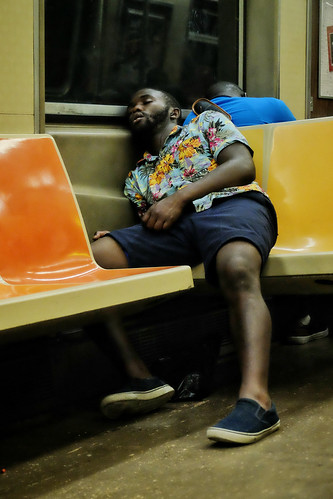 4am on the NYC subway