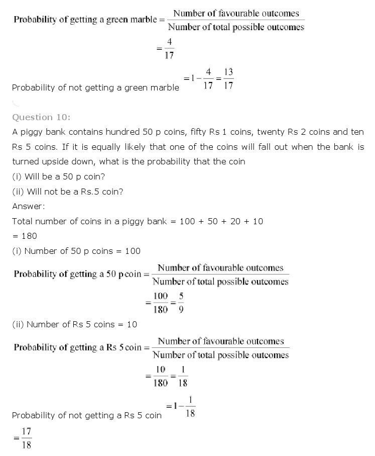 NCERT Solutions for Class 10th Maths: Chapter 15   Probability Image by AglaSem