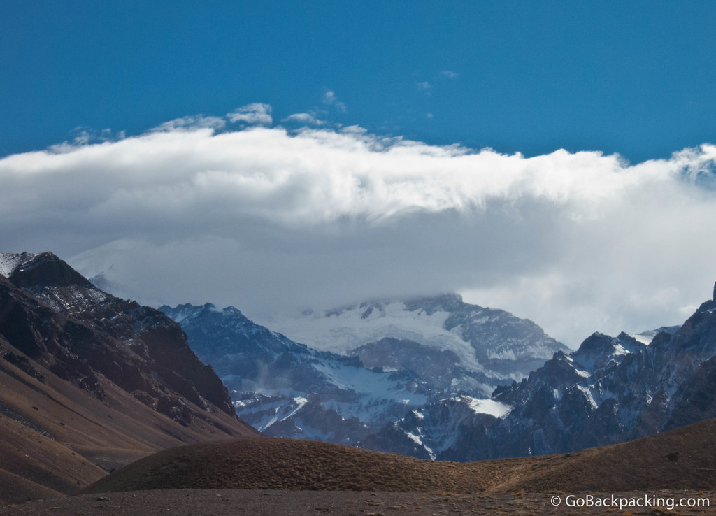 At 6,960 meters (22,837 feet), Aconcagua is South America's tallest mountain, as well as the tallest peak in both the Western and Southern hemispheres.