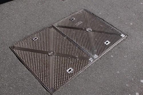 Telecom Australia manhole covers