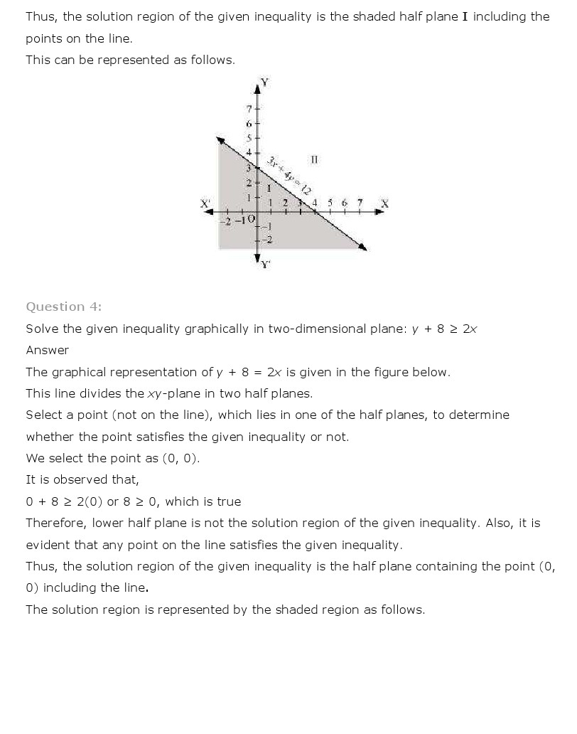NCERT Solutions for Class 11th Maths Chapter 6 - Linear Inequalities
