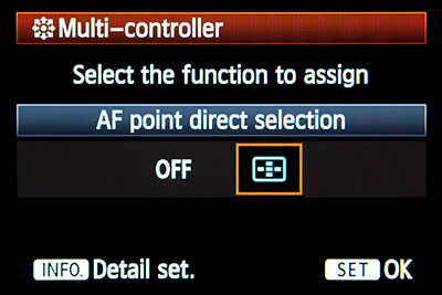 canon 5d mark iii mk 3 auto focus autofocus multi controller direct af point select zone control custom function setting