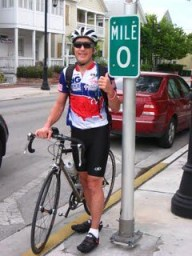 The first day of the ride in November 2009 in Key West, Florida