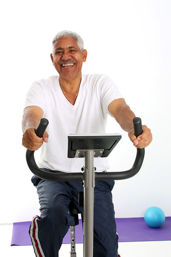 Senior Man Riding Bike