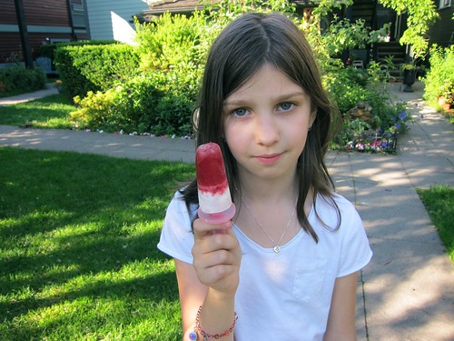 Raspberry White Chocolate Popsicles