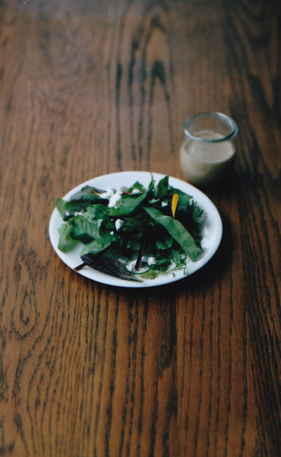 salad with tahini