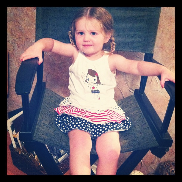 little girl, big chair