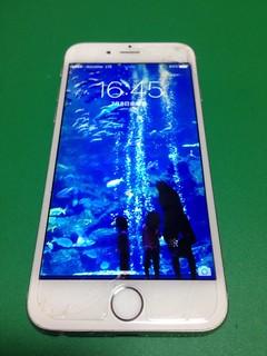 124_iPhone6のフロントパネルガラス割れ