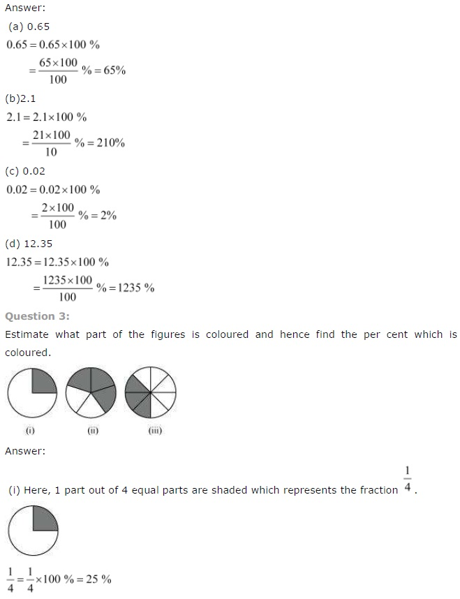 NCERT Solutions for Class 7th Maths Chapter 8   Comparing Quantities
