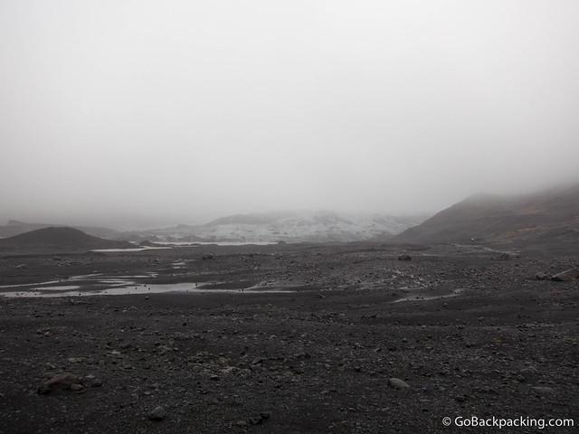 Glacier parking lot