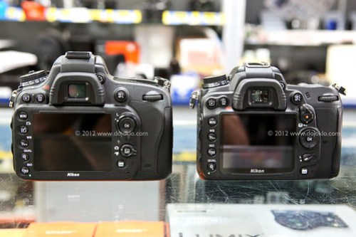 Nikon D600 vs D7000 controls buttons size compare side by side