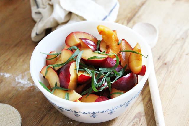 plums nectarines tarragon