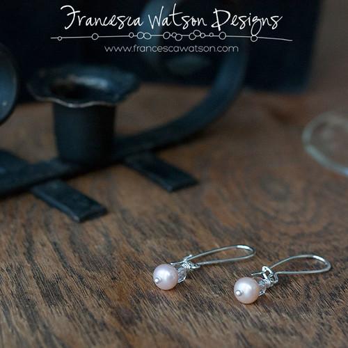 Pearl Earrings by Francesca Watson Designs