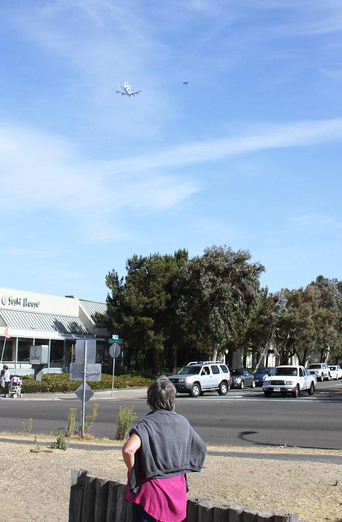 Space Shuttle Endeavour Flies Over Alameda, California