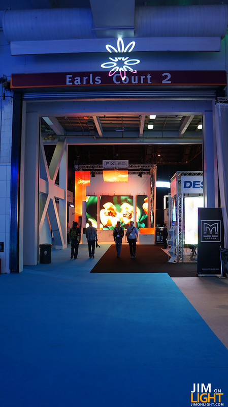 looking at the PIXLED booth at PLASA 2012 from Hall 1