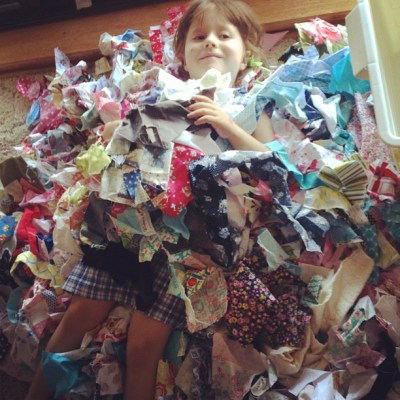 I have been inspired to sort my scraps... It's a bit of a big job!