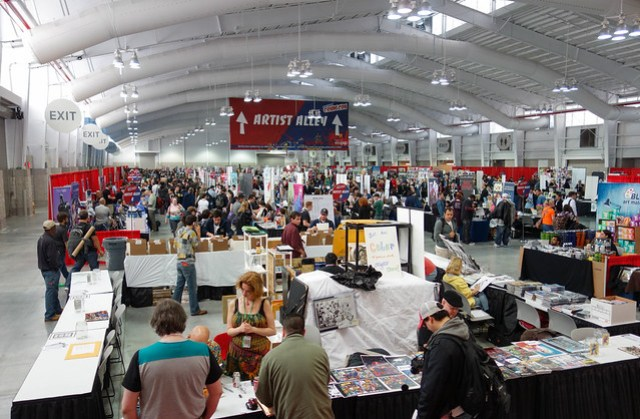 Artist Alley at New York Comic Con 2012