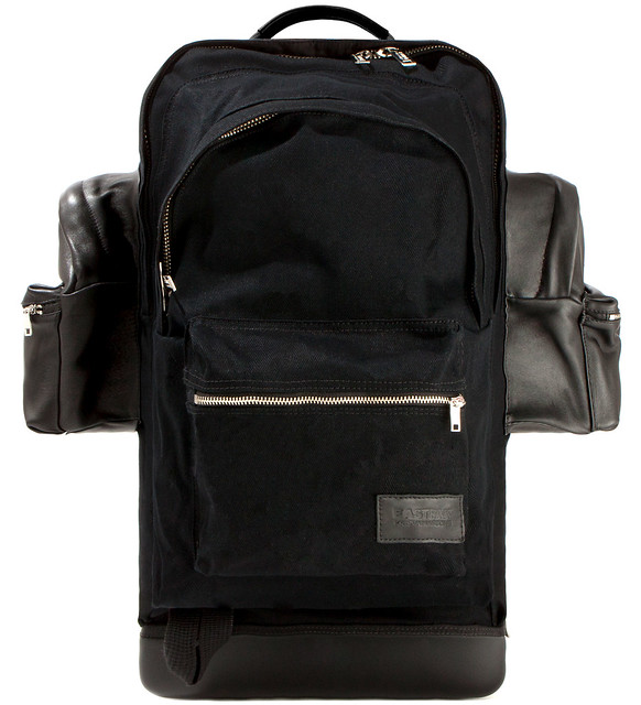 kris-van-assche black-cotton-backpack-xxl