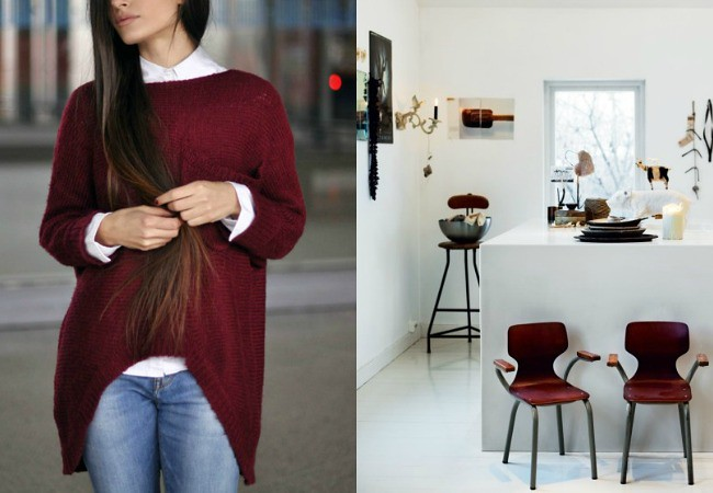 oxblood chairs
