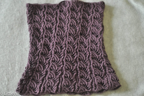 Flared Lace Smoke Ring Cowl