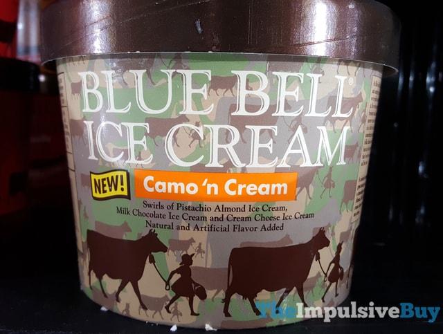 Blue Bell Camo 'n Cream Ice Cream