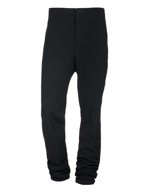 A DICIANNOVEVENTITRE : AUGUSTA COOL BLACK THICK COTTON PANTS