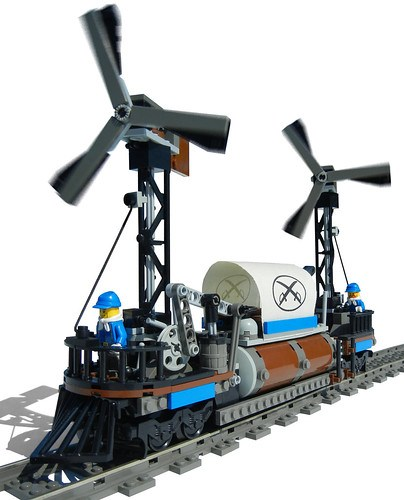 """Cyclone"" Windmill Locomotive"
