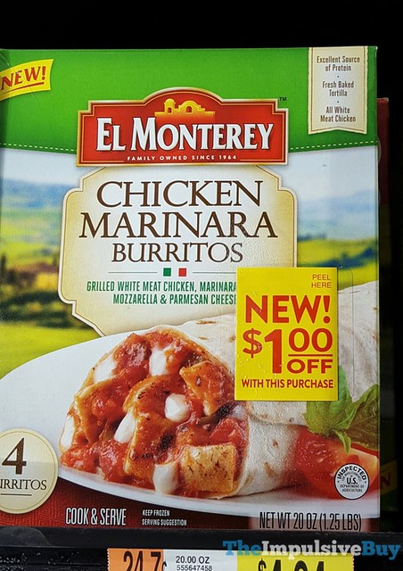 El Monterey Chicken Marinara Burritos