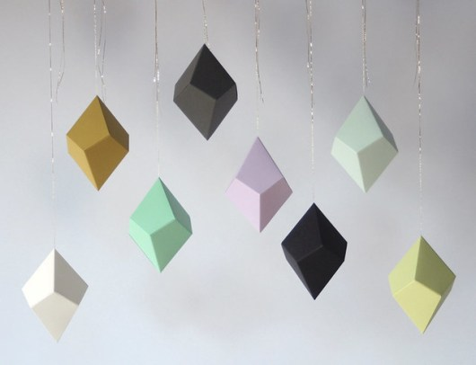DIY Geometric Paper Ornaments