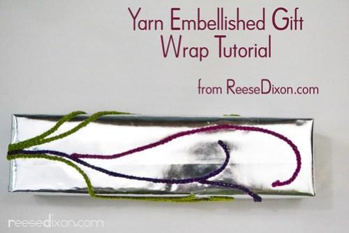 Yarn Embellished Gift Tutorial