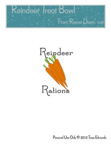 Reindeer Treat Bowl Pattern
