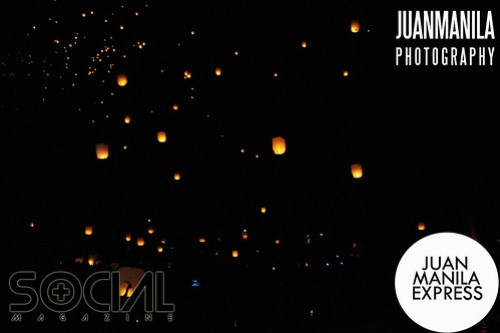 Hundreds of sky lanterns lit up the NUVALI sky on the evening of December 30.