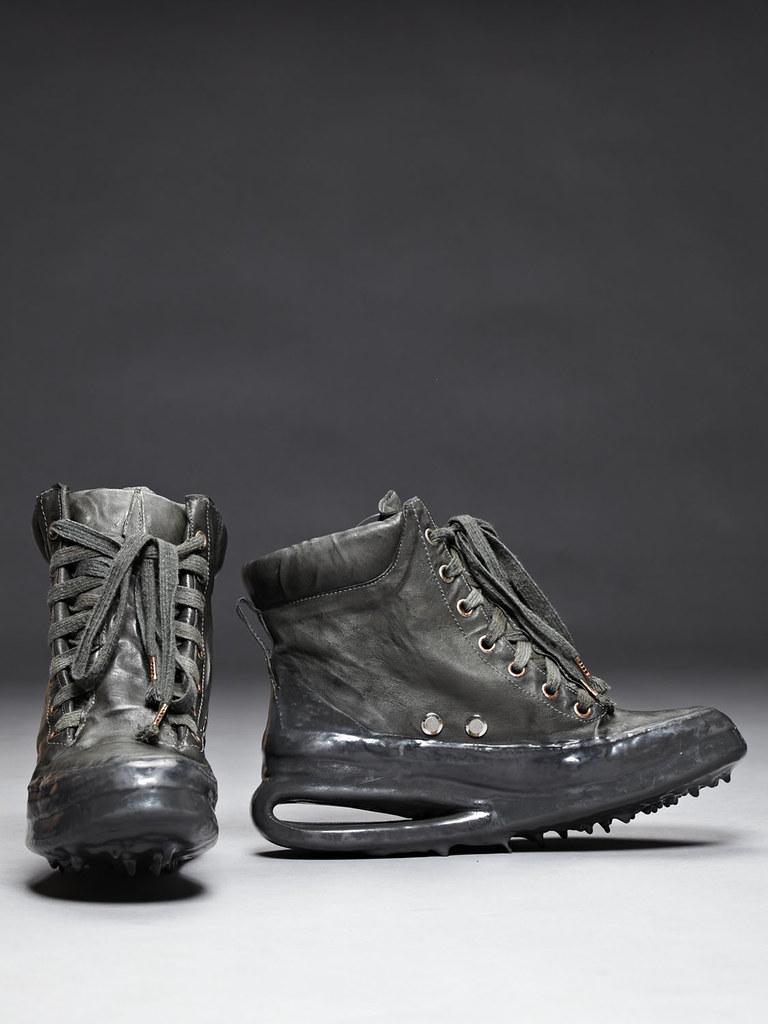 CCP Kangaroo Leather Drip Rubber U-Sole Sneaker Grey 2
