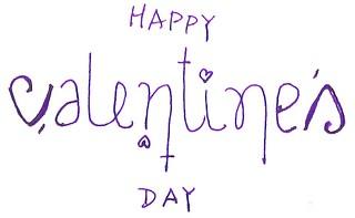 Happy Valentine's Day (ambigram)