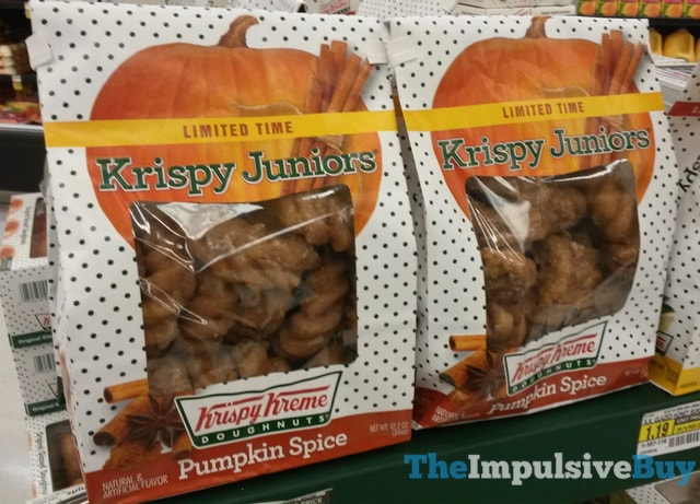 Limited Time Krispy Kreme Pumpkin Spice Krispy Juniors 2016