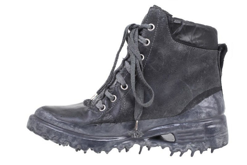 Carol Christian Poell - Boots Object Dyed Prosthetic Ankle Work Boots in dark gray