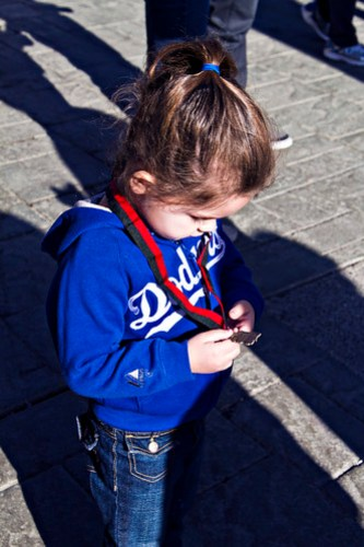 with Daddy's medal