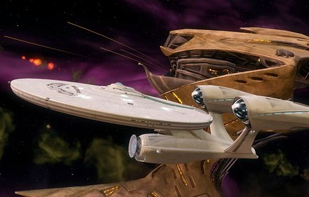 2-27-13 - Enterprise & Gorn Ship