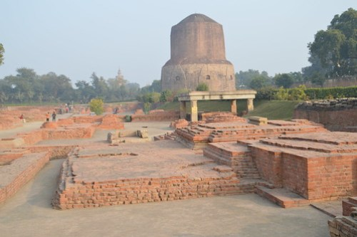 Remains of aprox.18x18 sq. mtr temple , Lord Buddha meditation site